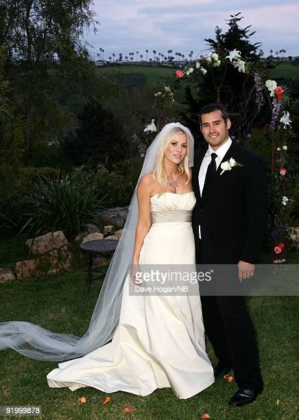 Singer Natasha Bedingfield and Matt Robinson after their wedding ceremony held at Church Estate Vinyards on March 21 2009 in Malibu California