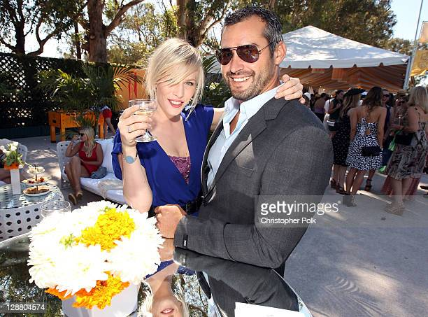 Singer Natasha Bedingfield and Matt Robinson arrive at the Veuve Clicquot Polo Classic Los Angeles at Will Rogers State Historic Park on October 9...