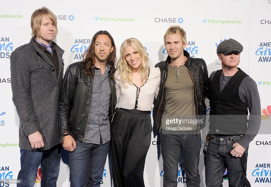 Singer Natasha Bedingfield (C) and musical group Lifehouse arrive at the 2nd Annual American Giving Awards at the Pasadena Civic Auditorium on December 7, 2012 in Pasadena, California.