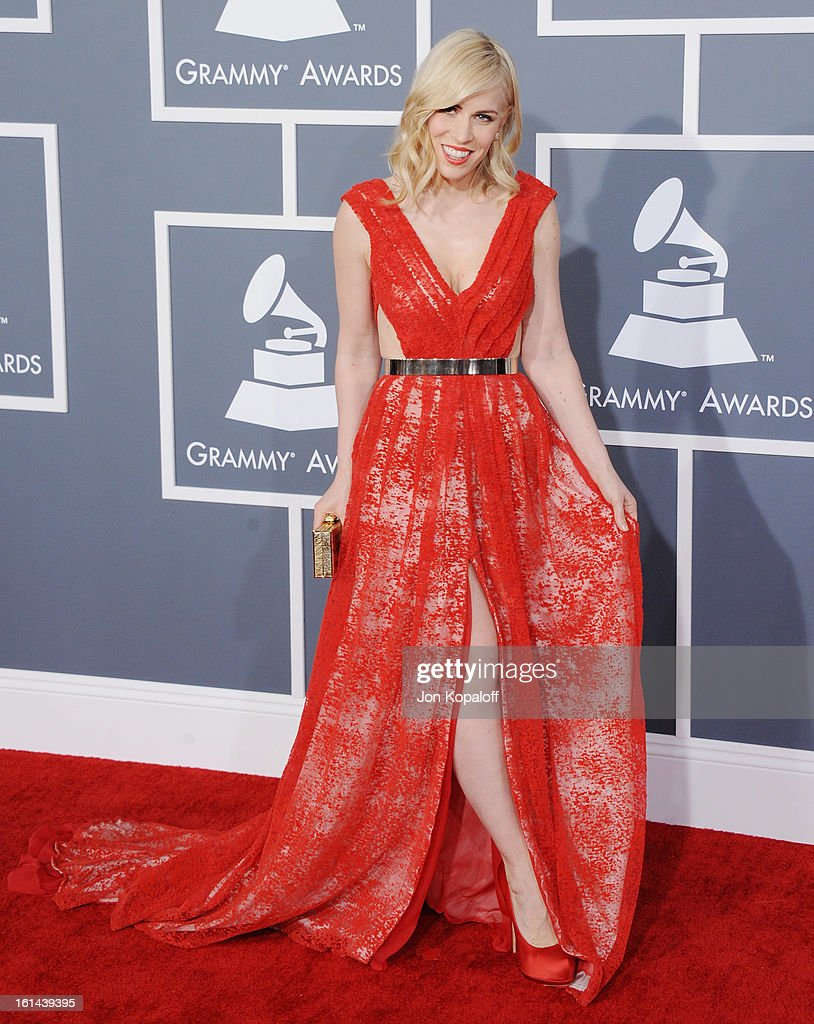 Singer Natasha Bedingfield arrives at The 55th Annual GRAMMY Awards at Staples Center on February 10, 2013 in Los Angeles, California.