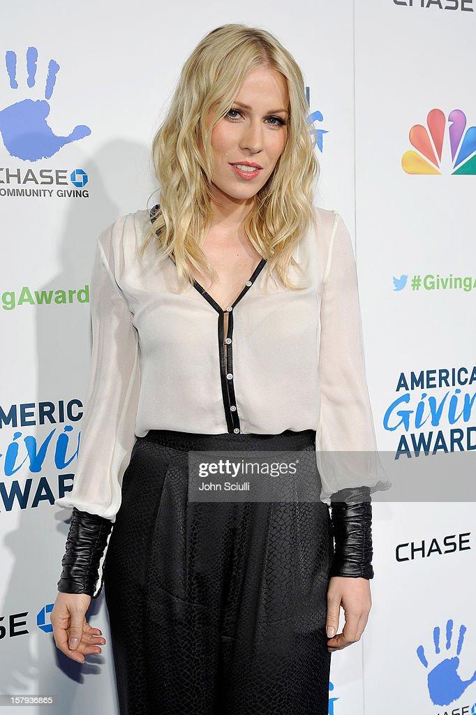 Singer Natasha Bedingfield arrives at the American Giving Awards presented by Chase held at the Pasadena Civic Auditorium on December 7, 2012 in Pasadena, California.