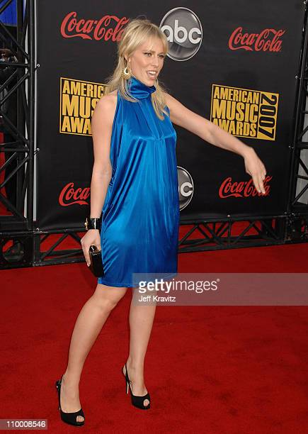 Singer Natasha Bedingfield arrives to the 2007 American Music Awards at the Nokia Theatre on November 18 2007 in Los Angeles California