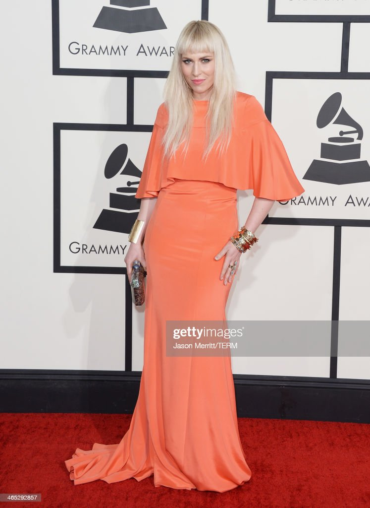 Singer <a gi-track='captionPersonalityLinkClicked' href=/galleries/search?phrase=Natasha+Bedingfield&family=editorial&specificpeople=171728 ng-click='$event.stopPropagation()'>Natasha Bedingfield</a> attends the 56th GRAMMY Awards at Staples Center on January 26, 2014 in Los Angeles, California.