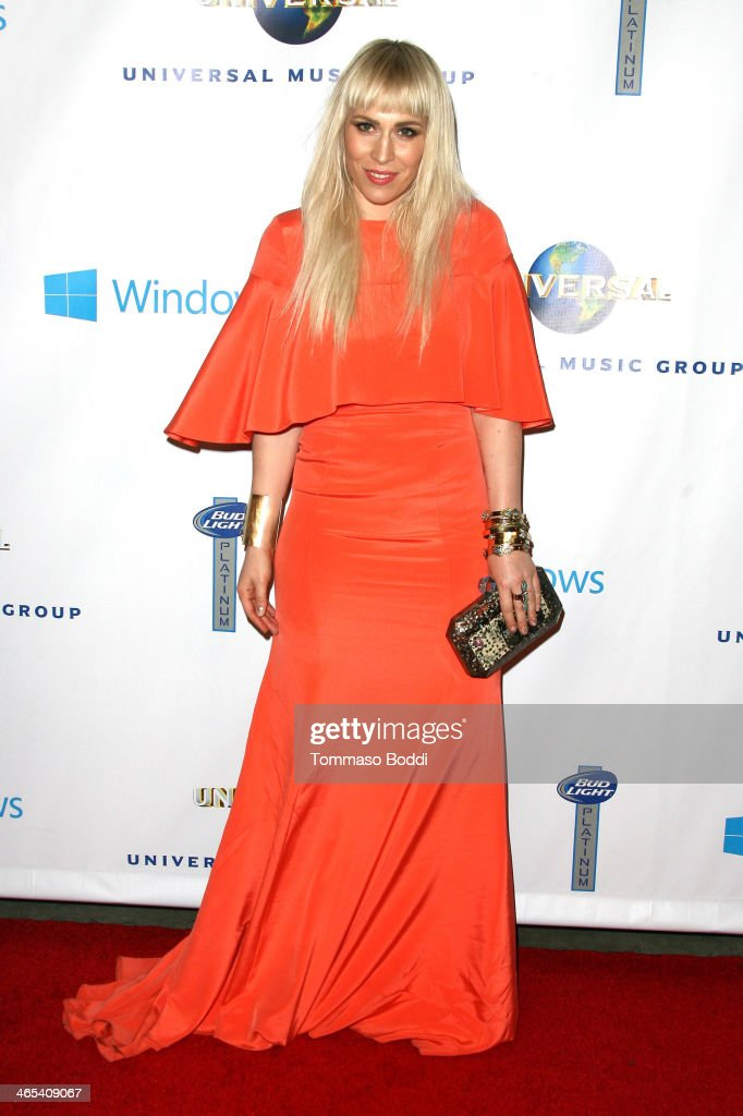 Singer <a gi-track='captionPersonalityLinkClicked' href=/galleries/search?phrase=Natasha+Bedingfield&family=editorial&specificpeople=171728 ng-click='$event.stopPropagation()'>Natasha Bedingfield</a> attends the Universal Music Group 2014 post GRAMMY party held at The Ace Hotel Theater on January 26, 2014 in Los Angeles, California.