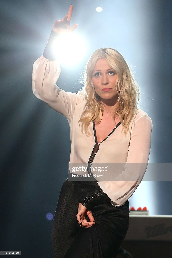 Singer Natasha Bedingfield onstage at the American Giving Awards presented by Chase held at the Pasadena Civic Auditorium on December 7 2012 in...
