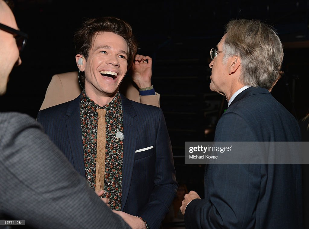 Singer <a gi-track='captionPersonalityLinkClicked' href=/galleries/search?phrase=Nate+Ruess&family=editorial&specificpeople=6897270 ng-click='$event.stopPropagation()'>Nate Ruess</a> of fun. and President/CEO of The Recording Academy <a gi-track='captionPersonalityLinkClicked' href=/galleries/search?phrase=Neil+Portnow&family=editorial&specificpeople=208909 ng-click='$event.stopPropagation()'>Neil Portnow</a> attend The GRAMMY Nominations Concert Live!! held at Bridgestone Arena on December 5, 2012 in Nashville, Tennessee.
