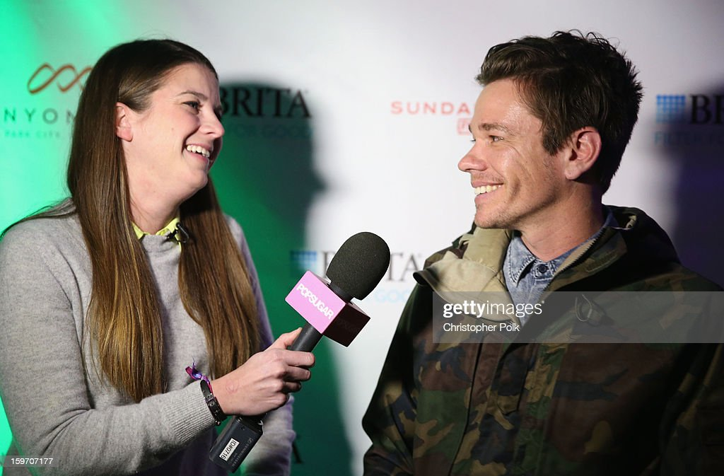 Singer Nate Ruess of Fun. gives an interview at Brita at Sundance Film Festival on January 18, 2013 in Park City, Utah.