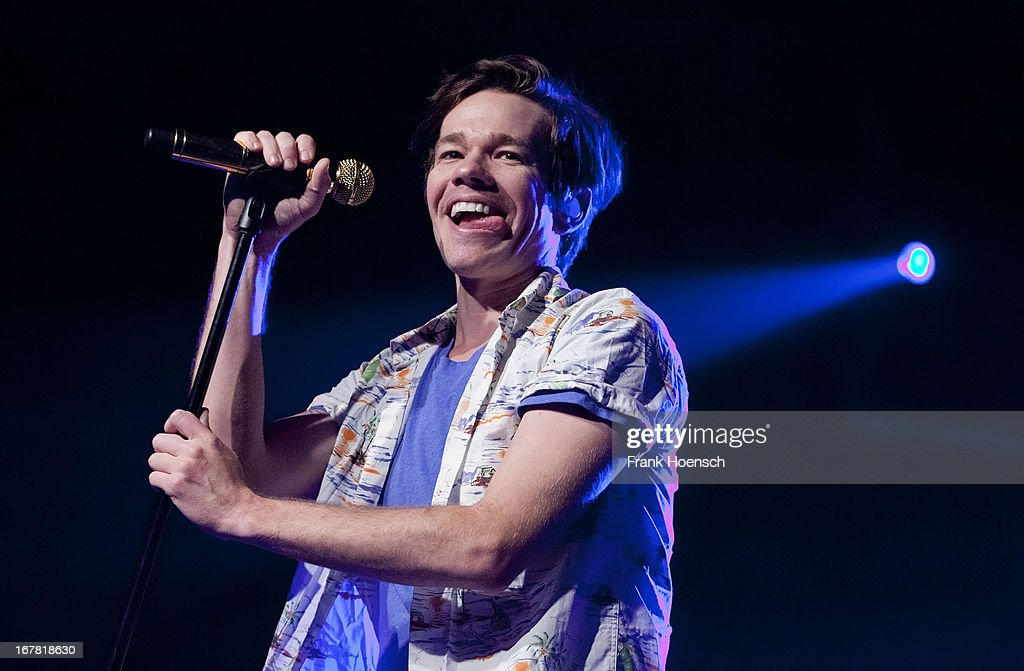 Singer <a gi-track='captionPersonalityLinkClicked' href=/galleries/search?phrase=Nate+Ruess&family=editorial&specificpeople=6897270 ng-click='$event.stopPropagation()'>Nate Ruess</a> of Fun. performs live during a concert at the Astra on April 30, 2013 in Berlin, Germany.