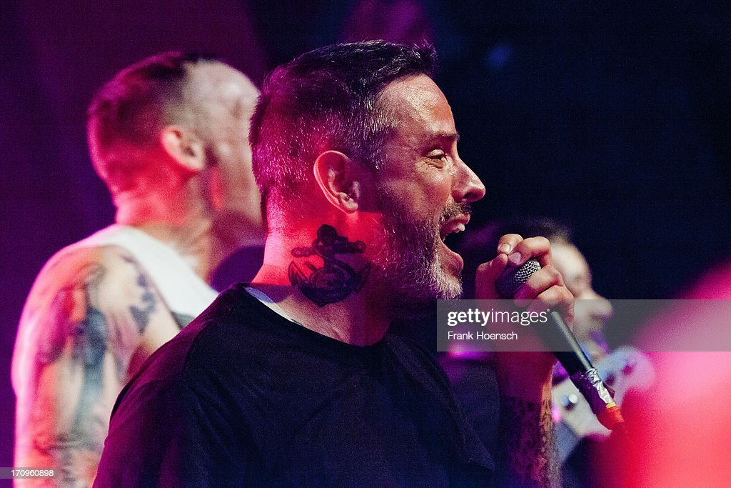 Singer Nathan Gray of Boysetsfire performs live during a concert at the Astra on June 20, 2013 in Berlin, Germany.