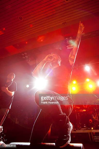Singer Nathan Gray of Boysetsfire performs live during a concert at the Astra on June 20 2013 in Berlin Germany