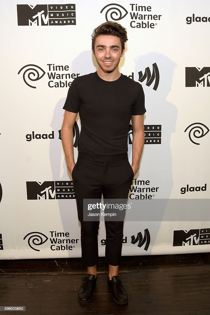 Singer Nathan Sykes attends an MTV VMA concert featuring Cash Cash, Nathan Sykes, and very special guest, Flo Rida presented by Time Warner Cable & GLAAD at Terminal 5 on August 26, 2016 in New York City.