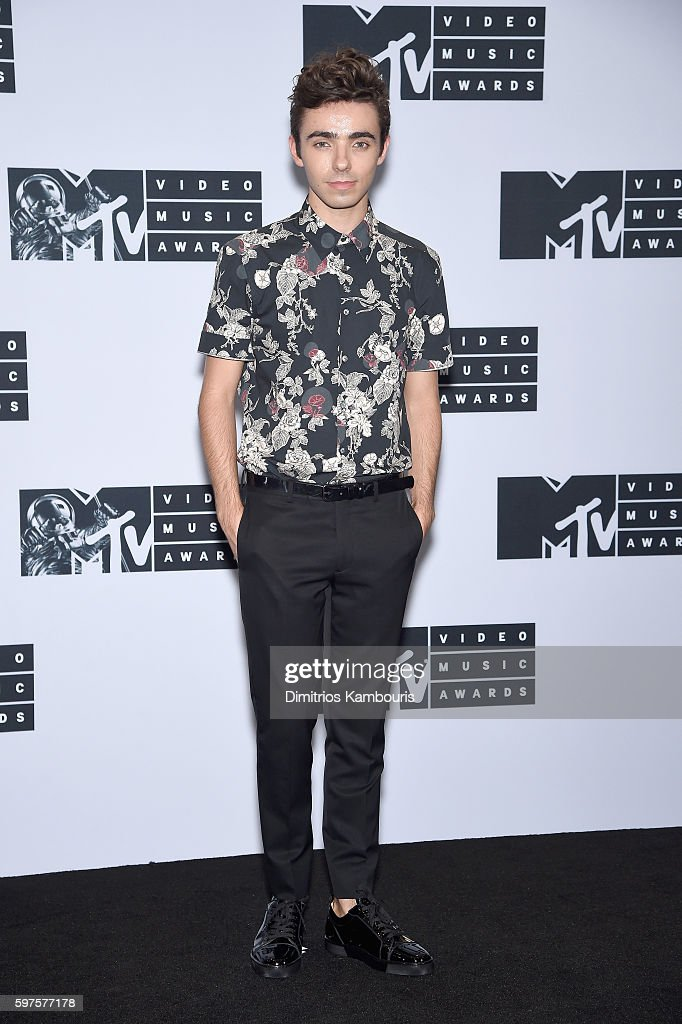 Singer Nathan Sykes attends the Press Room at the 2016 MTV Music Video Awards at Madison Square Garden on August 28, 2016 in New York City.