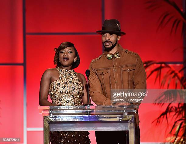 Singer Naturi Naughton and actor Aaron D Spears attend the 47th NAACP Image Awards NonTelevised Awards Ceremony on February 4 2016 in Pasadena...