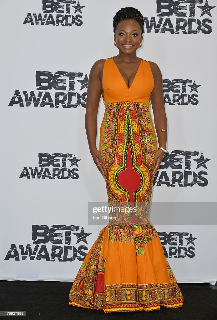 Singer Naturi Naughton poses in the press room during the 2015 BET Awards at the Microsoft Theater on June 28 2015 in Los Angeles California