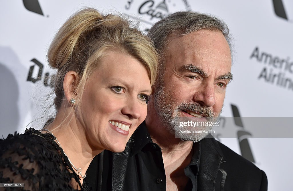 Singer Neil Diamond (R) and wife Katie McNeil attend Capitol Records 75th Anniversary Gala at Capitol Records Tower on November 15, 2016 in Los Angeles, California.