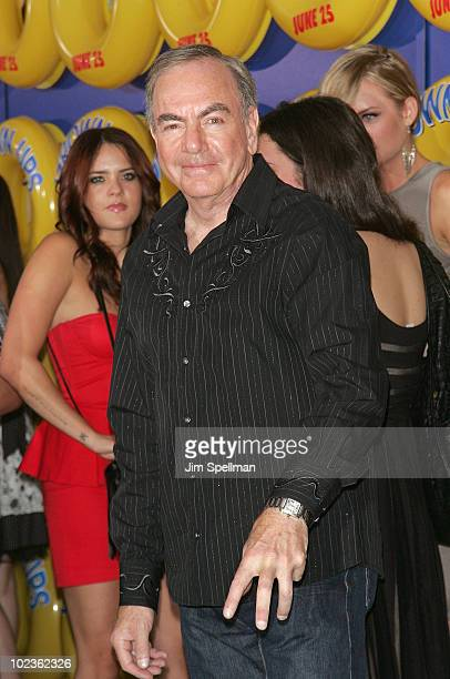 Singer Neil Diamond attends the premiere of 'Grown Ups' at the Ziegfeld Theatre on June 23 2010 in New York City
