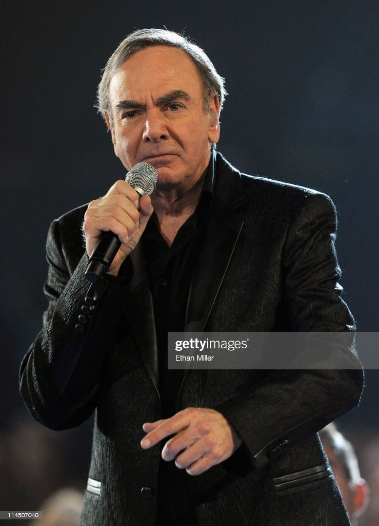 Singer <a gi-track='captionPersonalityLinkClicked' href=/galleries/search?phrase=Neil+Diamond&family=editorial&specificpeople=210635 ng-click='$event.stopPropagation()'>Neil Diamond</a> performs onstage during the 2011 Billboard Music Awards at the MGM Grand Garden Arena May 22, 2011 in Las Vegas, Nevada.