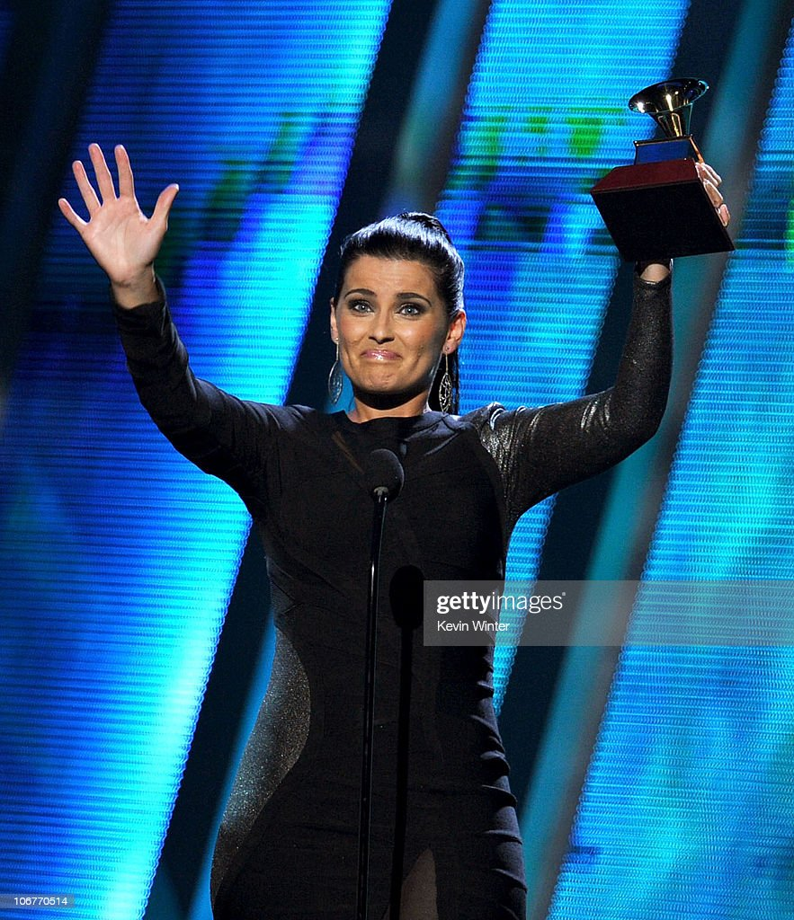 Singer Nelly Furtado accepts the Best Female Pop Vocal Album award onstage during the 11th annual Latin GRAMMY Awards at the Mandalay Bay Events Center on November 11, 2010 in Las Vegas, Nevada.