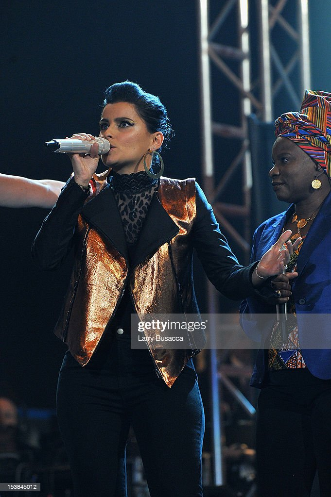 Singer Nelly Furtado performs onstage at the One World Concert at Syracuse University on October 9 2012 in Syracuse New York