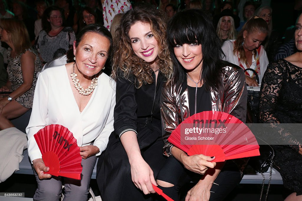 Singer Nena with her mother Ursula Griebner and her daughter Larissa Kerner at the Minx by Eva Lutz show during the MercedesBenz Fashion Week Berlin...
