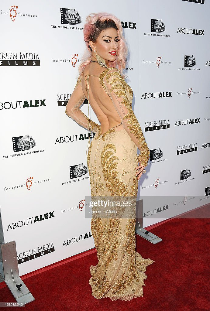 Singer <a gi-track='captionPersonalityLinkClicked' href=/galleries/search?phrase=Neon+Hitch&family=editorial&specificpeople=6718170 ng-click='$event.stopPropagation()'>Neon Hitch</a> attends the premiere of 'About Alex' at ArcLight Hollywood on August 6, 2014 in Hollywood, California.