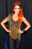 Singer Neon Hitch attends Vh1 Pepsi Super Bowl Fan Jam with Gym Class Heroes BoB and AllAmerican Rejects held at Indiana State Fairgrounds Pepsi...