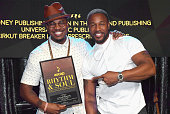 Singer NeYo accepts the award for Winning RB/Hip Hop Song for 'She Knows' with singer Tank at the 2016 ASCAP Rhythm Soul Awards at the Beverly...