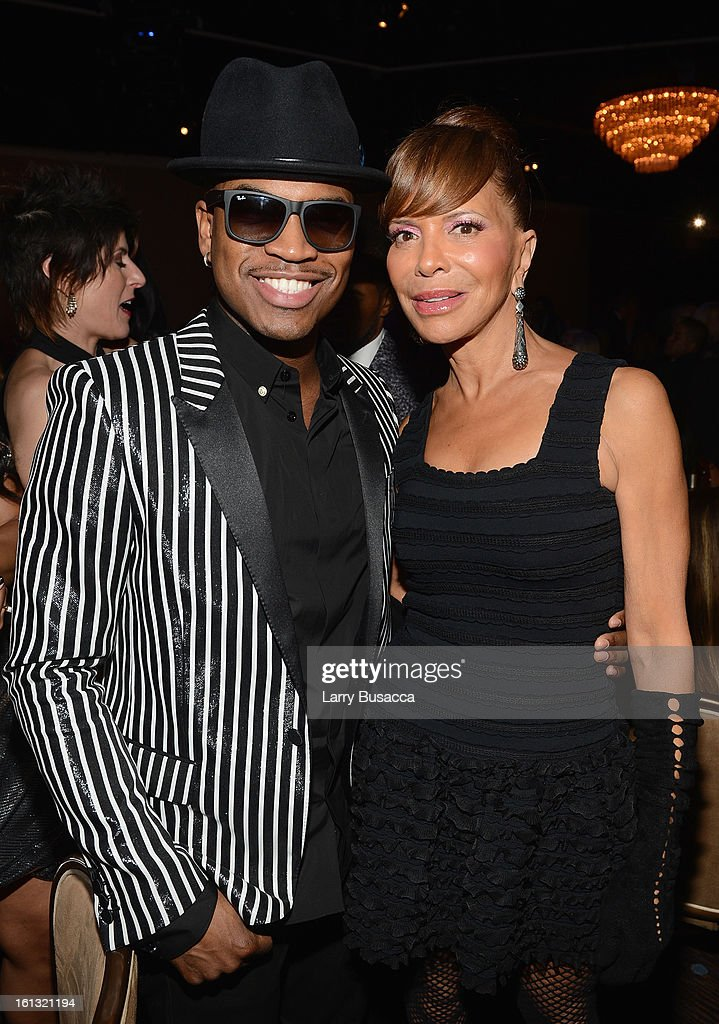 Singer Ne-Yo (L) and music executive Sylvia Rhone attend the 55th Annual GRAMMY Awards Pre-GRAMMY Gala and Salute to Industry Icons honoring L.A. Reid held at The Beverly Hilton on February 9, 2013 in Los Angeles, California.