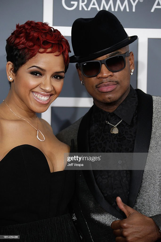 Singer Ne-Yo (R) attends the 55th Annual GRAMMY Awards at STAPLES Center on February 10, 2013 in Los Angeles, California.