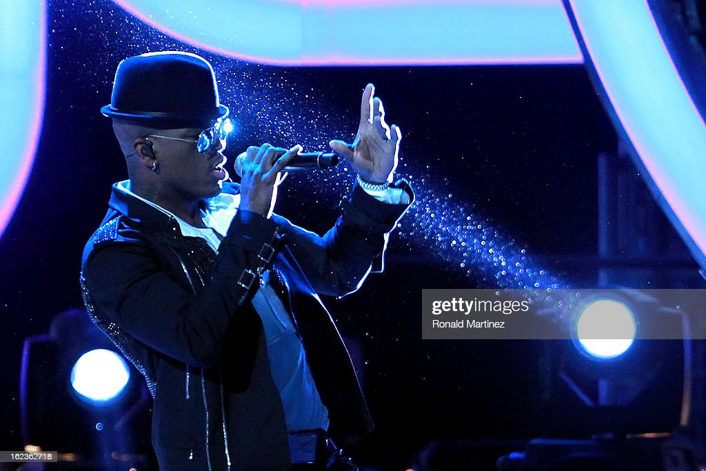 Singer Ne-Yo performs before the 2013 NBA All-Star game at the Toyota Center on February 17, 2013 in Houston, Texas.