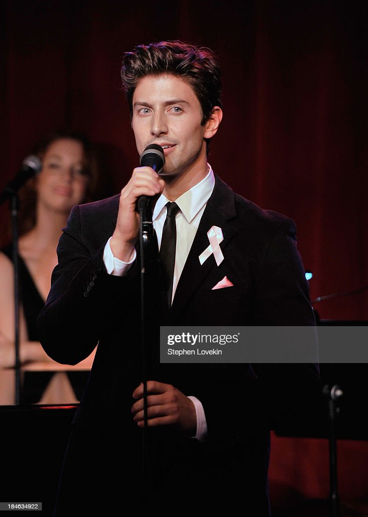APPLY Singer Nick Adams performs during 'The Actors Fund And Tower Cancer Research' benefit concert at Birdland Jazz Club on October 14, 2013 in New York City.