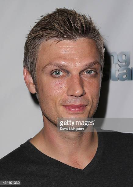 Singer Nick Carter attends 'Dancing with the Stars' Season 21 at Mixology101 on October 26 2015 in Los Angeles California