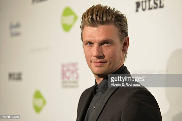 Singer Nick Carter attends the premiere of Gravitas Ventures' 'Backstreet Boys Show 'Em What You're Made Of' at on January 29 2015 in Hollywood...
