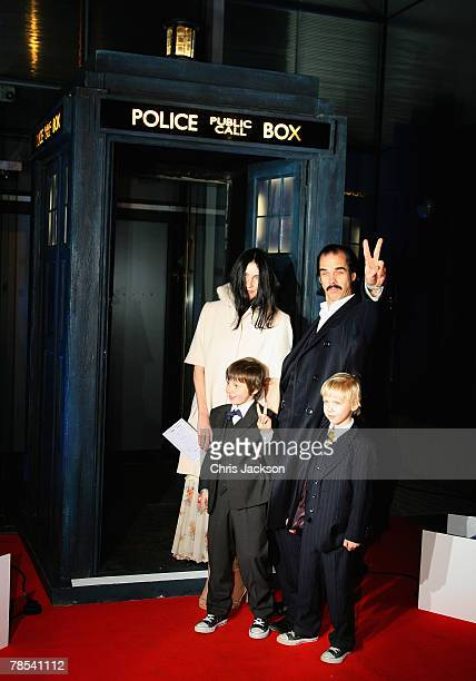 Singer Nick Cave and his family arrive for the Gala Screening of the Doctor Who Christmas Episode at the Science Museum on December 18 2007 in London...