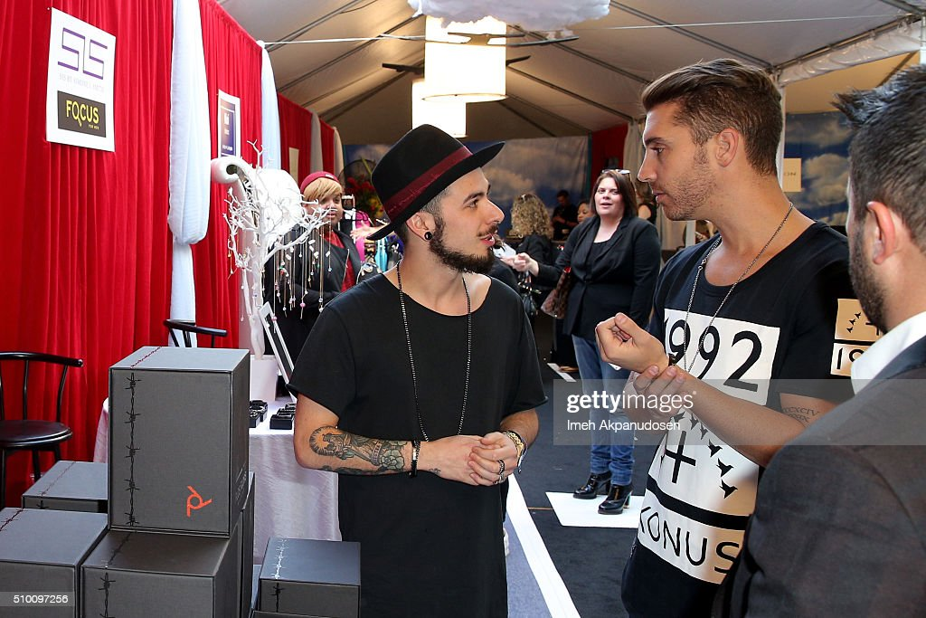 Singer <a gi-track='captionPersonalityLinkClicked' href=/galleries/search?phrase=Nick+Fradiani&family=editorial&specificpeople=14098429 ng-click='$event.stopPropagation()'>Nick Fradiani</a> attends the GRAMMY Gift Lounge during The 58th GRAMMY Awards at Staples Center on February 13, 2016 in Los Angeles, California.