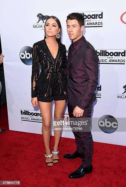 Singer Nick Jonas and model Olivia Culpo attend the 2015 Billboard Music Awards at MGM Grand Garden Arena on May 17 2015 in Las Vegas Nevada