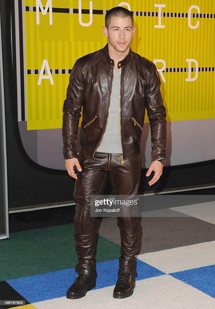 Singer Nick Jonas arrives at the 2015 MTV Video Music Awards at Microsoft Theater on August 30, 2015 in Los Angeles, California.