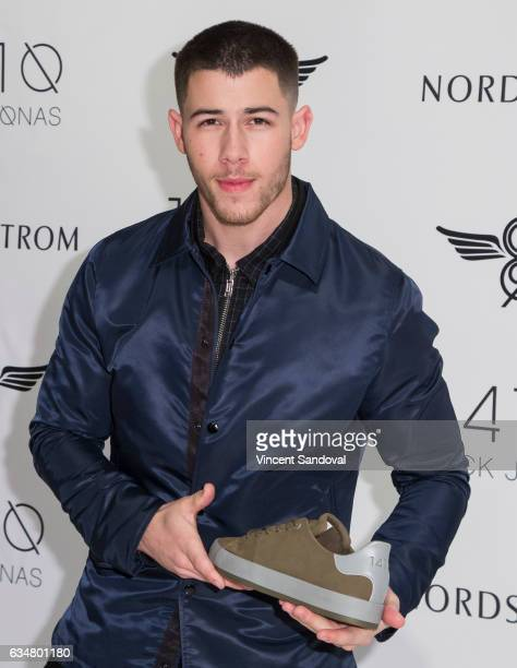 Singer Nick Jonas attends Nick Jonas and Creative Recreation's 1410 Collection launch at Nordstrom at the Grove on February 11 2017 in Los Angeles...