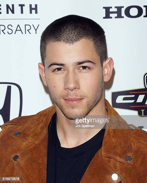Singer Nick Jonas attends the 2016 Honda Civic tour artists announcement at the Garage on March 22 2016 in New York City