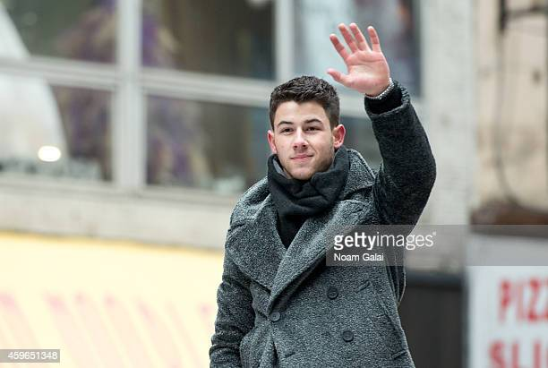 Singer Nick Jonas attends the 88th Annual Macys Thanksgiving Day Parade at on November 27 2014 in New York New York