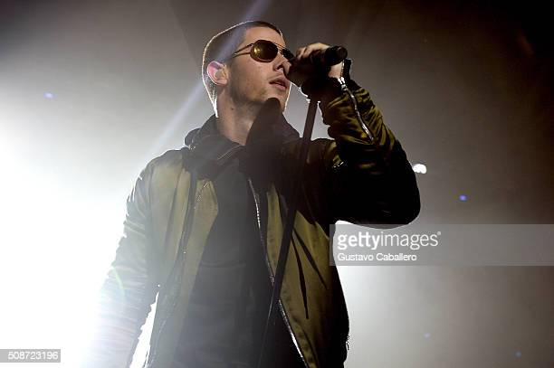 Singer Nick Jonas performs onstage during ESPN The Party on February 6 2016 in San Francisco California
