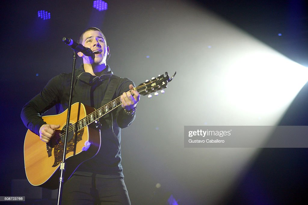 Singer <a gi-track='captionPersonalityLinkClicked' href=/galleries/search?phrase=Nick+Jonas&family=editorial&specificpeople=842713 ng-click='$event.stopPropagation()'>Nick Jonas</a> performs onstage during ESPN The Party on February 6, 2016 in San Francisco, California.