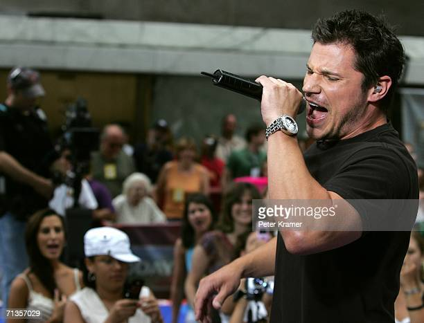 Singer Nick Lachey makes an appearance on NBC's Today Show Toyota summer concert series in Rockefeller Center on July 3 2006 in New York City