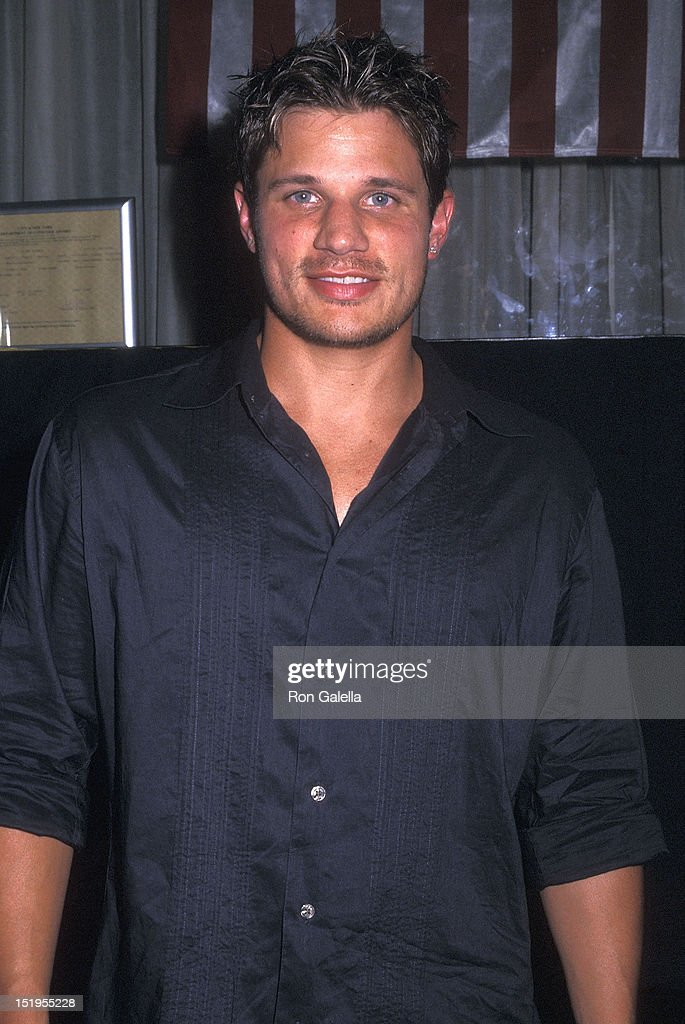 Singer <a gi-track='captionPersonalityLinkClicked' href=/galleries/search?phrase=Nick+Lachey&family=editorial&specificpeople=201832 ng-click='$event.stopPropagation()'>Nick Lachey</a> of 98 Degrees attends Sean 'P.Diddy' Combs Hosts Party to Celebrate Buying Back Bad Boys Entertainment Empire on July 2, 2002 at Eugene in New York City.