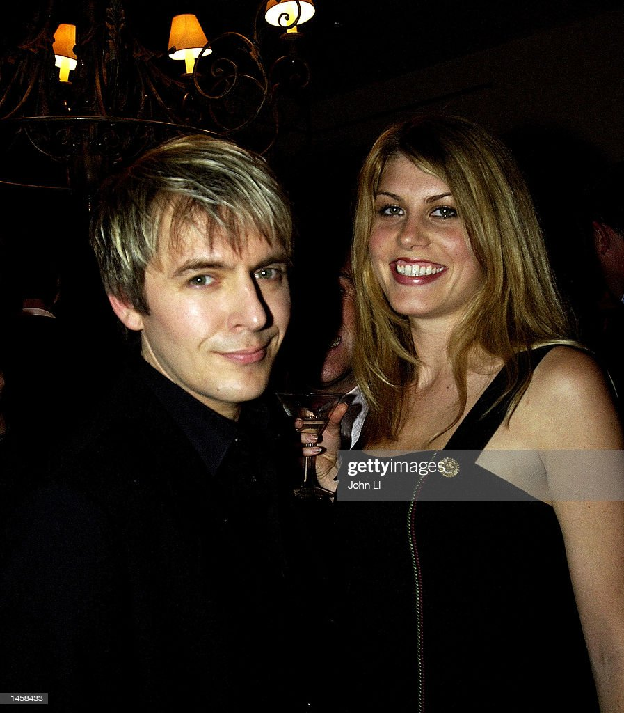 Singer Nick Rhodes And His Girlfriend Meridith Ostrom Attend Interior Designer Nikky Haslams Launch Party For