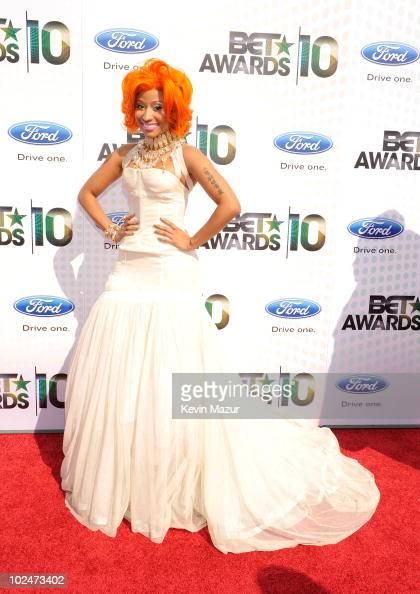 Singer Nicki Minaj arrives at the 2010 BET Awards held at the Shrine Auditorium on June 27 2010 in Los Angeles California