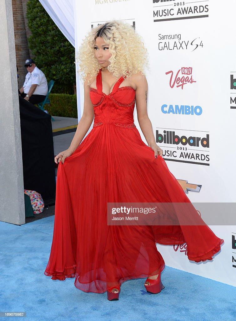 Singer Nicki Minaj arrives at the 2013 Billboard Music Awards at the MGM Grand Garden Arena on May 19, 2013 in Las Vegas, Nevada.