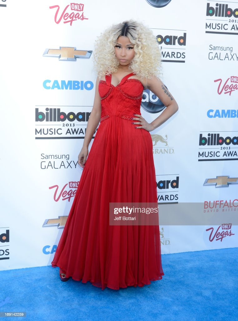 Singer <a gi-track='captionPersonalityLinkClicked' href=/galleries/search?phrase=Nicki+Minaj+-+Performer&family=editorial&specificpeople=6362705 ng-click='$event.stopPropagation()'>Nicki Minaj</a> arrives at the 2013 Billboard Music Awards at the MGM Grand Garden Arena on May 19, 2013 in Las Vegas, Nevada.
