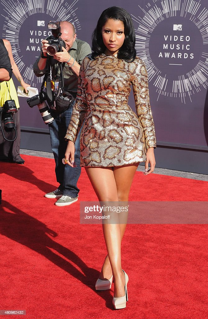 Singer <a gi-track='captionPersonalityLinkClicked' href=/galleries/search?phrase=Nicki+Minaj+-+Performer&family=editorial&specificpeople=6362705 ng-click='$event.stopPropagation()'>Nicki Minaj</a> arrives at the 2014 MTV Video Music Awards at The Forum on August 24, 2014 in Inglewood, California.