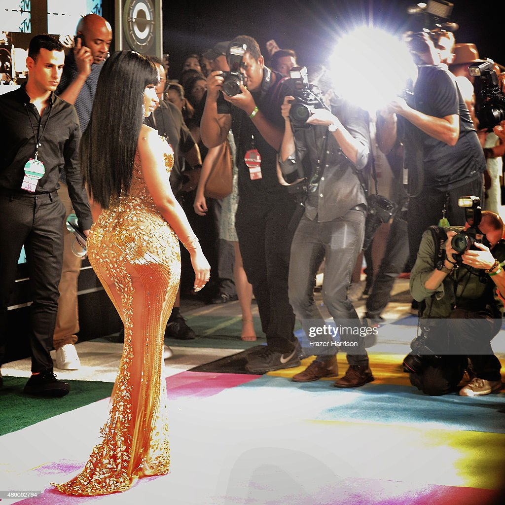 . Singer Nicki Minaj arrives at the 2015 MTV Video Music Awards at Microsoft Theater on August 30, 2015 in Los Angeles, California.
